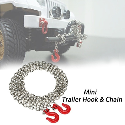 Qoo10 - Metal Trailer Hook Chain for 1/10 D90 Axial SCX10 RC