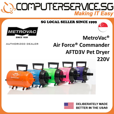 MetroVacMetroVac AirForce Commander AFTD3 Variable Speed Pet Dryer (Made In  U S A ) (Official Distributor)