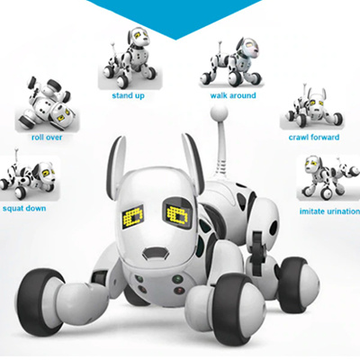 MG010 Voice Control Free Mode Sing Dance Smart Dog Robot 2 4G Wireless  Remote Control