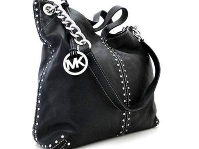 Michael Kors Black Leather Uptown Astor Large Satchel Tote Handbag
