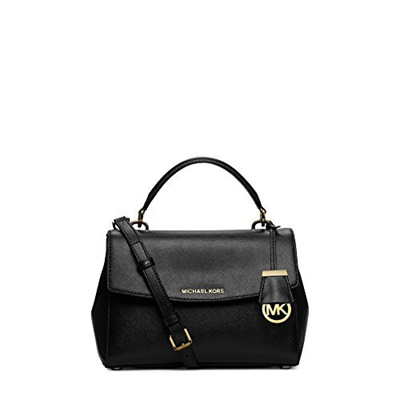 91ff2c1e0121 Qoo10 - (Michael Kors) Michael Kors Ava Small Satchel in Black Gold-   Bag    Wallet