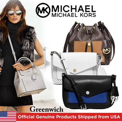 Michael KorsMichael Kors Greenwich crossbucketGrab BagOfficial Genuine Products Shipped from USA