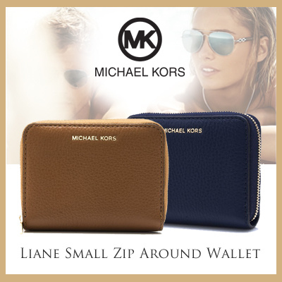 c9ffa5f59b2a Qoo10 - Michael Kors Liane Small Zip Around Wallet - Available in 2 ...