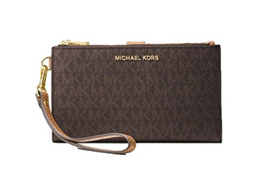 53c66739b599d Qoo10 - (Michael Kors) MICHAEL Michael Kors Adele Double Zip Phone Wristlet-32...    Bag   Wallet