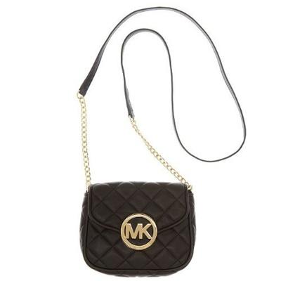 0b8fc41ef902 Qoo10 - (Michael Kors) MICHAEL Michael Kors Fulton Quilt Small Crossbody  Black...   Bag   Wallet