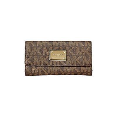 b9bf153140ad Qoo10 - Michael Kors Vanilla PVC Checkbook Wallet Brown : Bag & Wallet