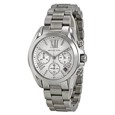 4c7b7d6c85e9 Qoo10 - Michael Kors Watches Mini Bradshaw Chronograph Stainless Steel Watch    Watch   Jewelry
