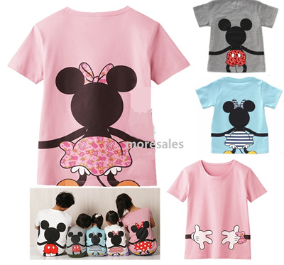 c0238540 Qoo10 - Mickey Minnie mouse Donald duck boy girl mom dad family tshirt 575  : Kids Fashion