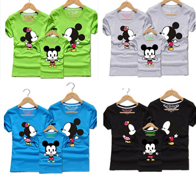 59bbd8f87f Qoo10 - Mickey Mouse Minnie and son Family father mohter children T-Shirts  : Kids Fashion