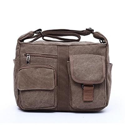 49356738d0b9 Qoo10 - MiCoolker Vintage Casual Canvas Messenger Shoulder Bag for Men Women  D...   Men s Bags   Sho.