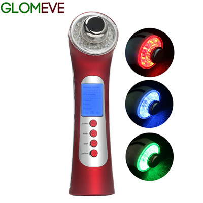 Microcurrent Ultrasonic 5 In 1 Radio Frequency EMS Wrinkle Rejuvenation  Face Skin Care Ionic LED Lig