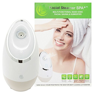 Microderm GLO Facial Steamer SPA+ by Nuvederm BEST Nano Ionic, Warm Mist,  Home Face Sauna Portable