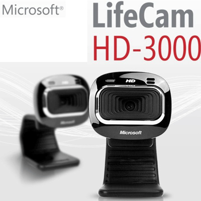 MicrosoftMicrosoft LIFECAM HD-3000 Movie: HD (900000 pixels) |Photo: 4  million pixels Auto focus USB new