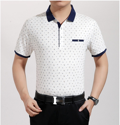 8b45becab487 Qoo10 - Middle-aged man s short sleeve t-shirt men s clothing in the ...