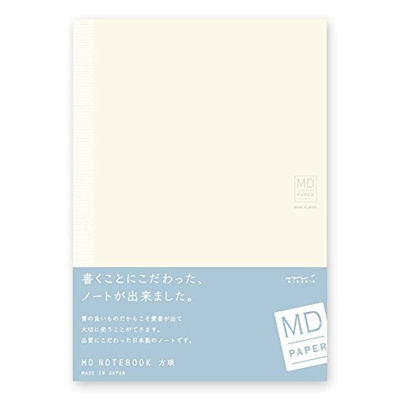 qoo10 midori md notebook a5 grid paper stationery supplies