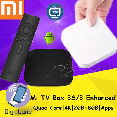 Mijia※[100% AUTHENTIC]Original XIAOMI TV BOX 3S/3 Enhanced 64bit 4K Quad  Core 4K Android TV BOX※