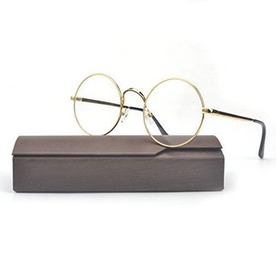 a8b5ab1eee Qoo10 - MINCL Retro Round Prescription ready Metal Eyeglasses Frame 50mm    Men s Bags   Shoes