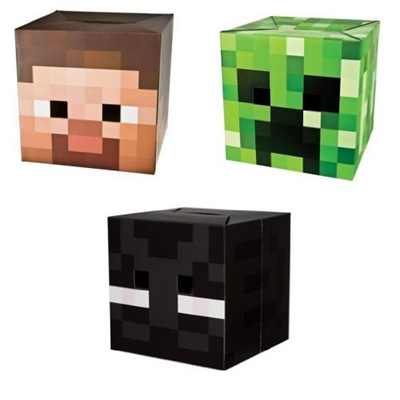 Minecraft Official Minecraft Exclusive Steve Creeper Enderman Head Costume Mask Set
