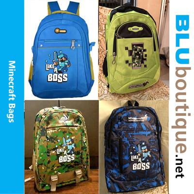 84429264af1 Qoo10 - Minecraft school bag minecraft backpack Minecraft bag  ALL BAGS  WILL ...   Kids Fashion