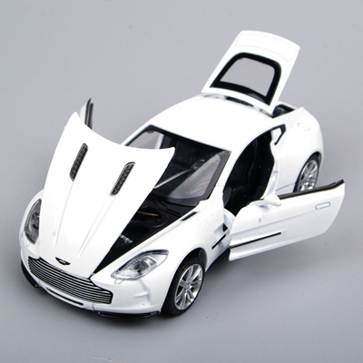 Mini 1/32 Scale Diecast Car Alloy Metal Aston Martin ONE 77 Vehicles White