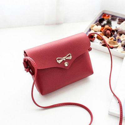 0219749ce08d Mini Bow PU Leather Chain Bag Women Handbags Women crossbody bags Ladies  Pretty Crossbody Shoulder B