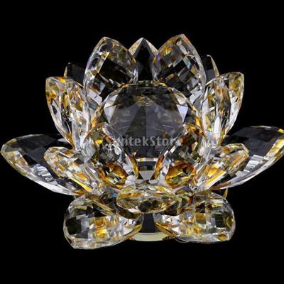 Qoo10 Mini Buddhist Crystal Glass Lotus Flower Model Feng Shui