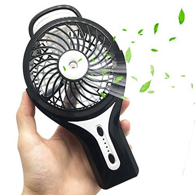 Mini Handheld Fan FlatLED Portable Water Misting Fan Personal Misting Fan  With Cooling Humidifier, U