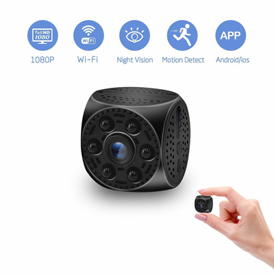 Mini Hidden Spy Camera Wireless Wifi Camera 1080P HD with Night Vision  Motion Detection Nanny Cam