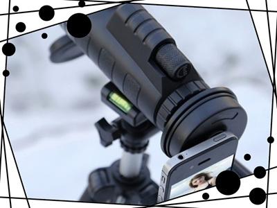 Qoo mini monocular smartphone telescope lens for iphone
