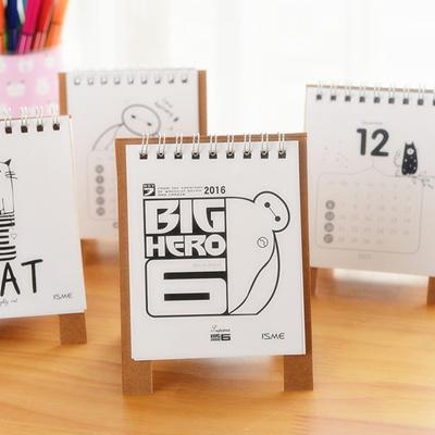 qoo10 mini table calendar 2016 cute cat baymax desk calendars