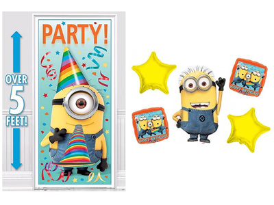 Qoo10 Minion Despicable Me Happy Birthday Theme Minion Door