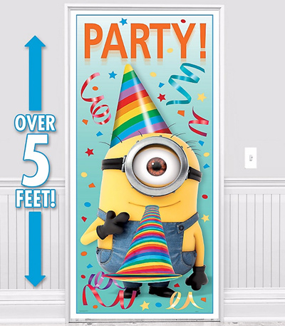 Qoo10 Minion Happy Birthday Banner Wall Door Princess Decoration