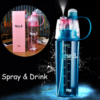 5c7e929edd87 Mist Spray Sports Water Bottle Leak Proof Insulated Bicycle Bottles Korean  Style Cup Cool Gift
