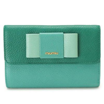 e2e2a48c3024 Miu Miu fold wallet 5ML225 2EW7 F0LZ6   MADRAS FIOCCO C ASSENZIO + GIADA  tri-