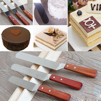 Kitchen Mixing Baking Tool Butter Scraper Stainless Steel Cake Cream Spatula