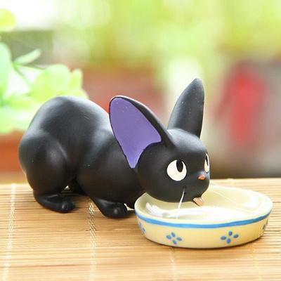 Miyazaki Anime Kiki s Delivery Service Mini Figures Black JiJi Cat Resin  Action Figure Toys Collecti