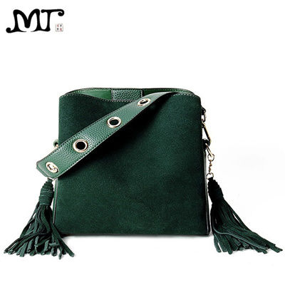 190f71c1c320 MJ Women Leather Handbags Tassel PU Leather Tote Bag Female Retro Crossbody  Messenger Bag Small Patc