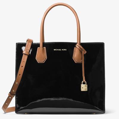 f088bebba073c6 MK Michael Kors course 2-way handbag Mercer patent leather large tote OL bag  30T7GM9T3A