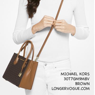 c523b503192d38 Qoo10 - MK Michael Kors leather bag Mercer Logo mini messenger Crossbody  handb... : Bag & Wallet