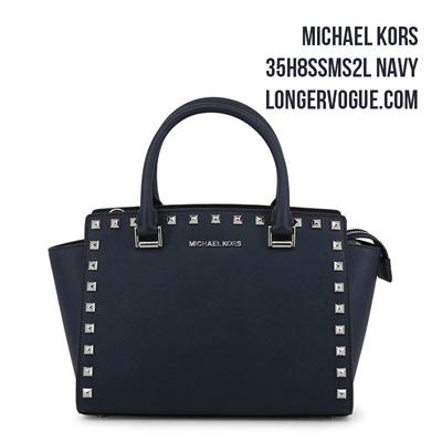 ffe67509d0bb7d MK Michael Kors Selma Bag Top Zip Stud Lady Leather Satchel Handbag  35H8SSMS2L Gift