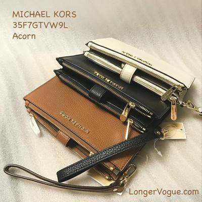 57df1aed66fe Qoo10 - MK Michael Kors wallet Jet Set Travel Leather Double Zip Wristlet  bifo...   Bag   Wallet