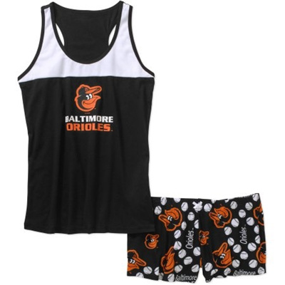 10e1aa46a Qoo10 - MLB Womens Baltimore Orioles Tank Top and Shorts Set ...