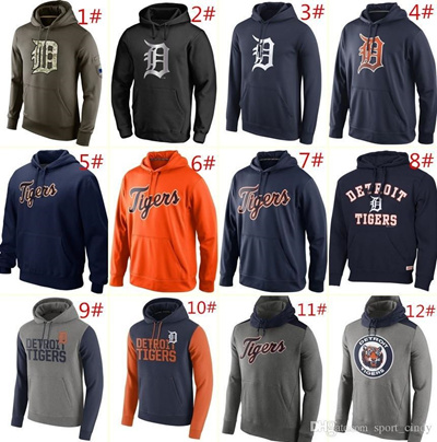 buy online 4c49c edb8e MLB Tigers hoodies 2016 Baseball jerseys Detroit Salute To Service Platinum  Collection Pullover Hood