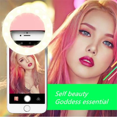 Mobile Phone Beauty Artifact Night Shoot External Flash Selfie LED Selfie  Fill Light Camera charging USB circular live phone lens Self Timer Light  For