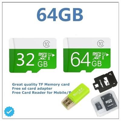 9fa0638e05b Mobile Phone Micro SD Card 64GB C10 High Speed Memory Cards Flash Card with Micro  SD