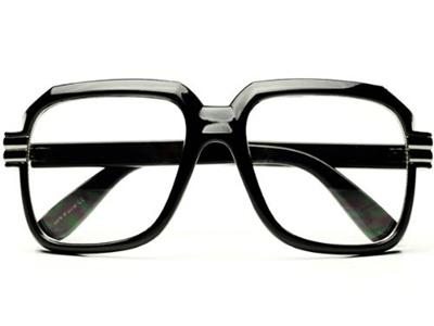 d238eb0689f2 Qoo10 - Moda HIP Hop Rapper Retro Large Oversized Clear Lens Eye Glasses    Fashion Accessories