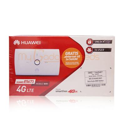 Modem Router Mifi Wif 4G Unlock Huawei E5673 Free Smartfren 45Gb 1Thn