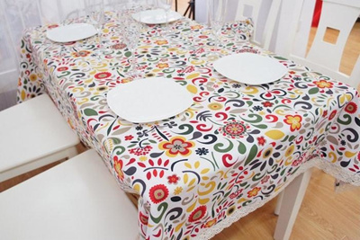 Modern American Country Style Colorful Vintage Tablecloths Fashion Boho  Floral Table Cloth Elegant T