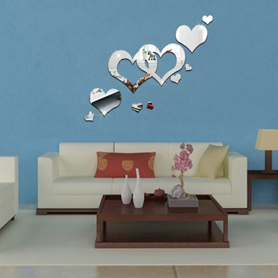 Qoo10 Modern Mirror Style Removable Decal Art Mural Wall Sticker