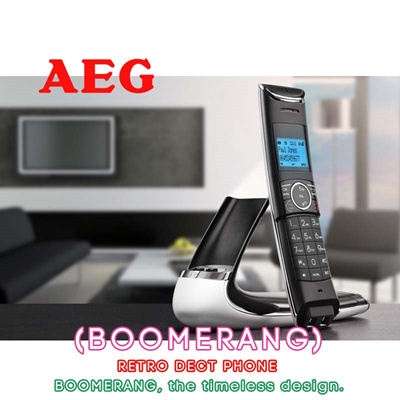AEG Designer DECT Digital Cordless Phone | Speakerphone|Caller ID|Built In  Answering